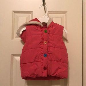 Gymboree Puffer Vest with Hood Sz 12-24 months